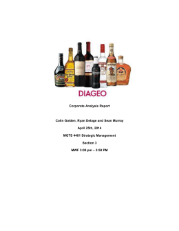 Corporate Analysis of Diageo PLC