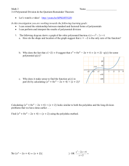 3-4 Polynomial Division & Q