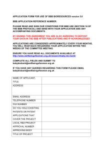 application form - Wellbeing of Women