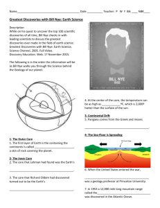 Bill Nye Geology Worksheet