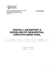 VHDL lab manuals - The University of Texas at Austin