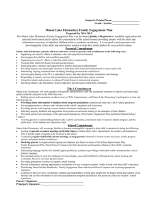 2014-15 Family Engagement Plan