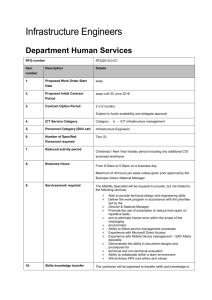 RFQ 2015-0121 - DHS - Infrastructure Engineers