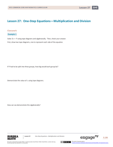 One-Step Equations—Multiplication and Division
