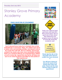 Newsletter Thursday 2nd July - Stanley Grove Primary Academy
