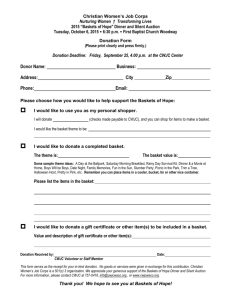 Basket Donation Form - Christian Women`s Job Corps of McLennan