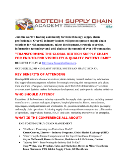 Join the world`s leading community for biotechnology supply chain