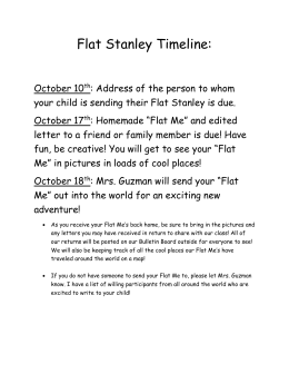 Flat stanley letter midkiff elementary school flat stanley timeline altavistaventures Images