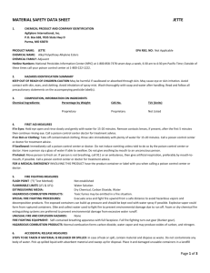 material safety data sheet jette