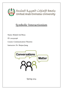 Comm. Theory – Symbolic Interactionism Report