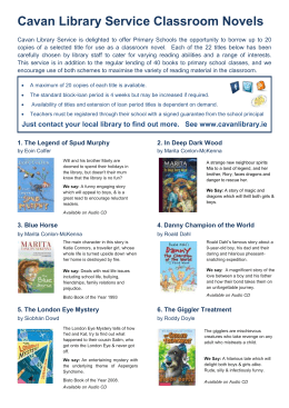 novelsguide.doc - Cavan County Libraries