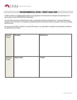 Swot analysis template doc file using table format environmental scan pronofoot35fo Images