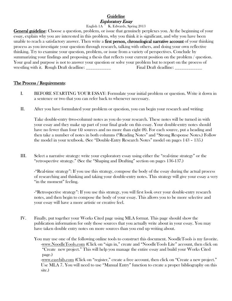 kerith edwards exploratory essay
