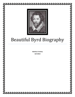 Beautiful Byrd Biography - Course