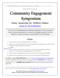 Community Engagement Symposium