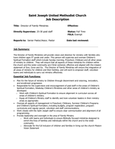 Director of Family Ministries Job Description[1]
