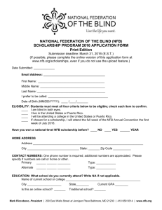 2016 Scholarship Application Form, print edition