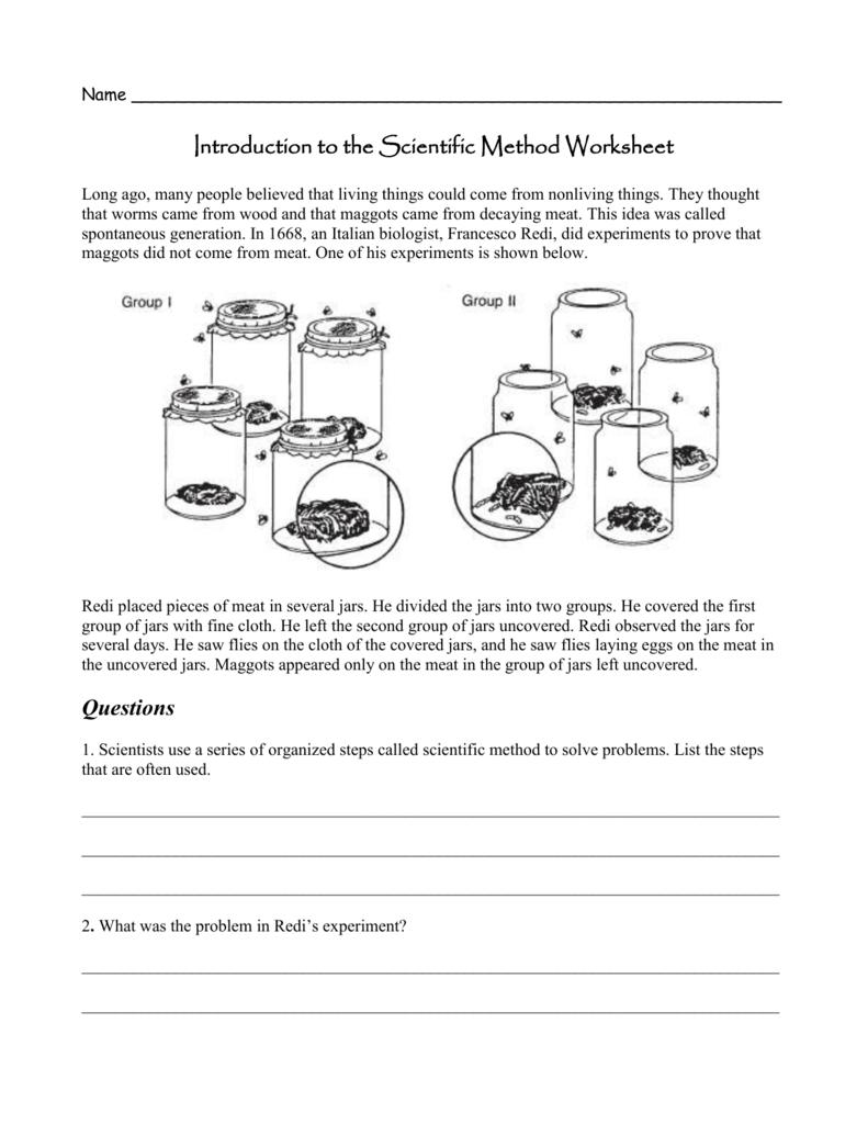 Worksheets The Scientific Method Worksheet introduction to the scientific method
