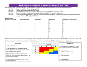 risk management and insurance matrix