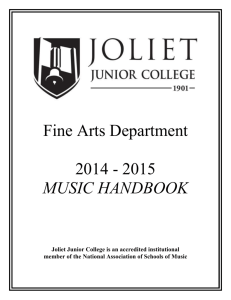 Music Handbook on - Joliet Junior College