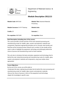 Module Description 2012/13