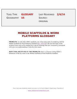 mobile scaffolds & work platforms glossary
