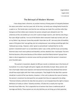 The Betrayal of Modern Women