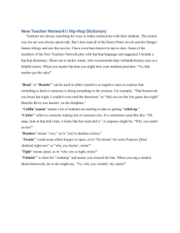 New Teacher Network`s Hip-Hop Dictionary