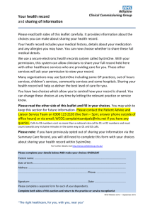 Consent Leaflet - Westbury Group Practice
