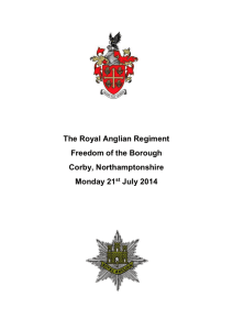 Royal Anglian Regiment - Freedom of the Borough