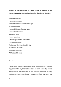 Danny Jordaan - statement to council 28 May 2015