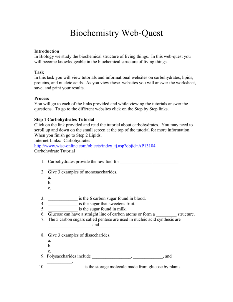 Biochemistry Worksheet Worksheet Templates – Biochemistry Worksheet