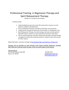 Professional Training in Regression Therapy and Spirit