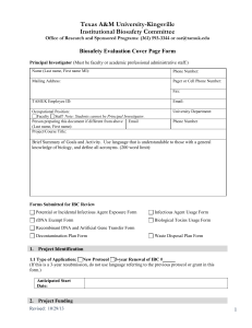 Cover Page Form - Texas A&M University