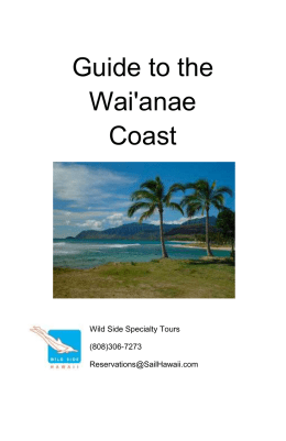 Guide to the Wai`anae Coast