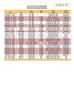 Basketball (home away games) Schedule (December 7, 2015)