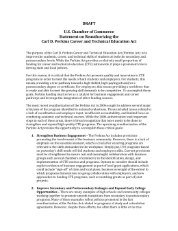 DRAFT US Chamber of Commerce Statement on Reauthorizing the
