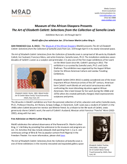 Museum of the African Diaspora presents The Art of Elizabeth Catlett
