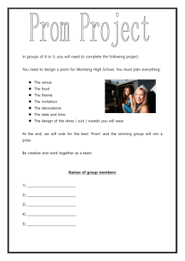 Prom-project-worksheet