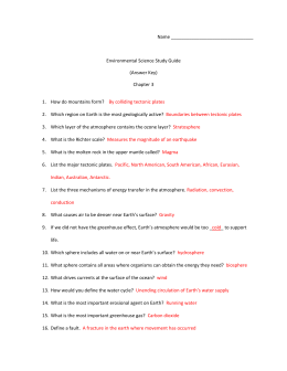 Detailed Study Guide Ch. 3 (Key)