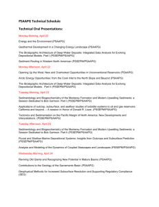 PSAAPG Technical Schedule Technical Oral Presentations