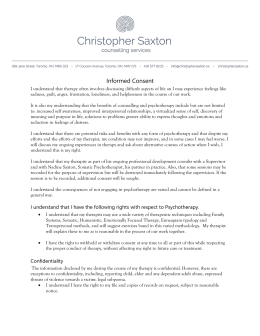 Psychotherapy Informed Consent - Christopher Saxton Counselling