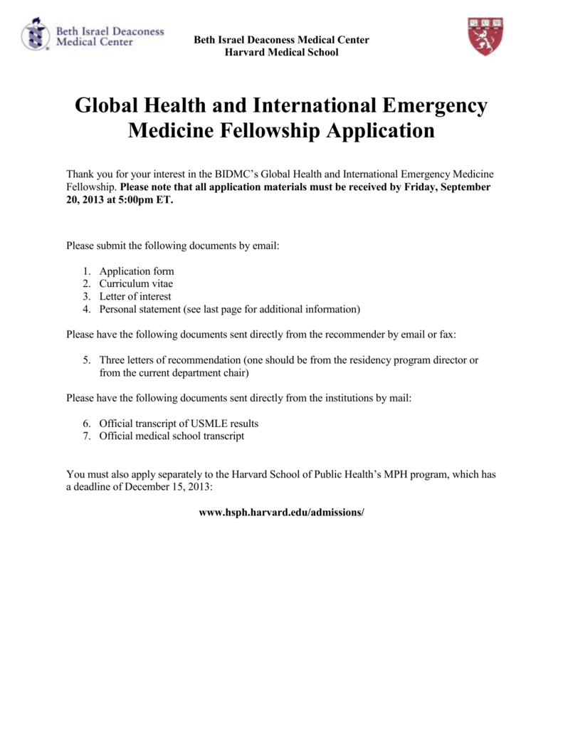 Global Health and International Emergency Medicine Fellowship