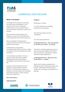 Cambridge VENTURECAMP - Associatie KU Leuven