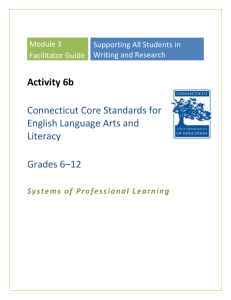 Facilitator`s Guide - Connecticut Core Standards