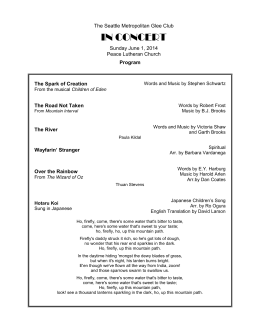2014 Program - Seattle Glee Clubs