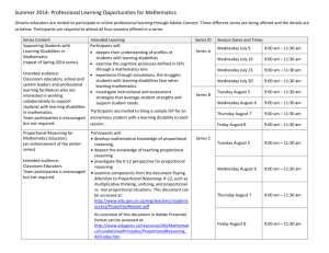 Professional Learning Opportunities for Classroom