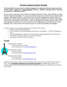 Foreign Language Summer Reading