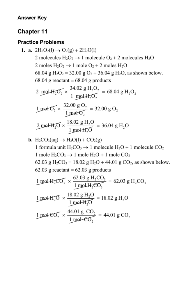 Answer Key Answer Key (continued) Chapter 11 Practice Problems
