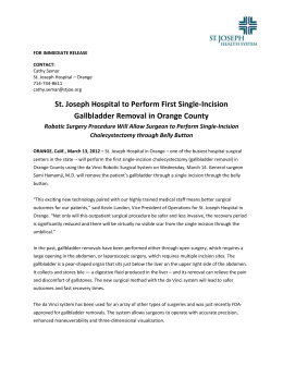 FOR IMMEDIATE RELEASE - St. Joseph Hospital of Orange